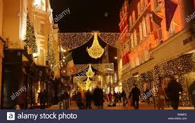Festive Lighting Dublin Ireland Christmas Stock Photos Ireland Christmas Stock