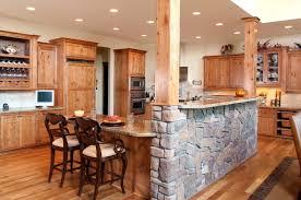 Custom Kitchen Island Design Amazing Eat In Kitchen Ideas With Rough Stone Custom Kitchen