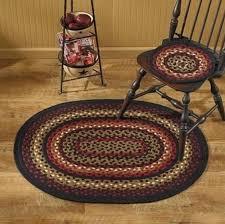 braided rugs park designs folk art oval braided rug 32 x 42