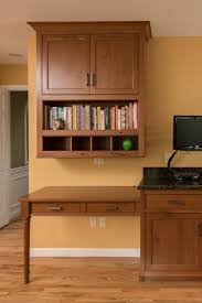 Kitchen Desk Designer Kitchen And Elegant Custom Cherry Cabinets Ackley