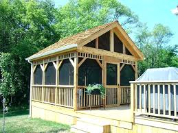 plans screen house plans gazebo room houses pertaining country with screened free standing