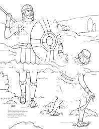 David And Goliath Coloring Pages Fingerfertig
