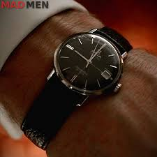 don draper s vintage omega seamaster wristshot mad men season 7 don draper omega seamaster deville watch season 7