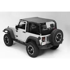 rugged ridge soft top pocket island topper black diamond 2 door jeep wrangler jk 2010