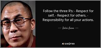 Dalai Lama Quotes On Love Inspiration Dalai Lama Quote Follow The Three R's Respect For Self Respect