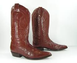 50 vintage cowboy boots womens 10 brown guess leather
