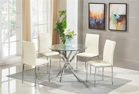 round glass dining room table set and chairs faux leather cream furniture decorating ideas pictures expandable trestle large square seats jensen lewis