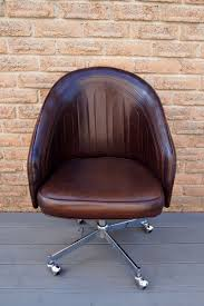 office diy projects. Original-leather-chair-used-for-the-DIY-Painted- Office Diy Projects S