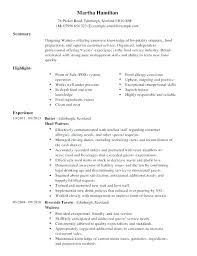 Waitress Resume Examples Magnificent Resume Sample For Restaurant Sample Resume For Restaurant Waitress