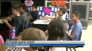 Storm safe visits Queen Palmer - YouTube