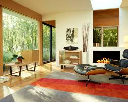 Lounge Chair Living Room Beautiful Modern Interior Design Eames Lounge Chair And Ottoman