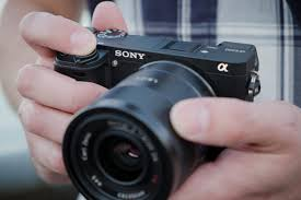 sony a6300. sony a6300 in hand