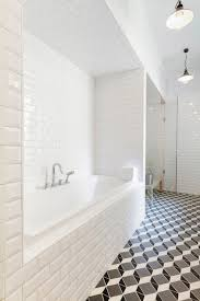 beveled subway tile shower view full size