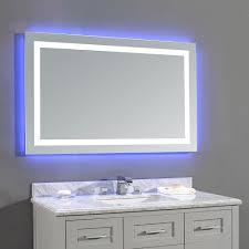 bathroom mirror. Jovian 27-inch X 43-inch LED Frameless Single Mirror Bathroom