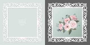 Premium Vector   Laser cut <b>lace square</b> frame, template. ornamental ...