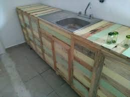 pallet kitchen counter with sink