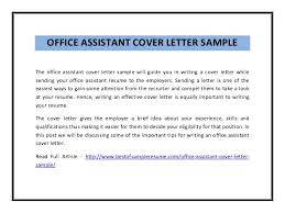 office assistant cover letter office assistant cover letter musiccityspiritsandcocktail com