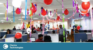 decoration of office. Bay Decoration At The Clarice Office - Technologies Pune (India) Of L
