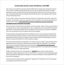 Gallery Of Letter For Community Service