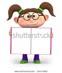 cute little cartoon holding an open book high quality 3d ilration