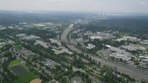 photo microsoft office redmond washington. 5K Aerial Video Of State Route 520 And Office Buildings At Microsoft Headquarters, Redmond, Washington Photo Redmond