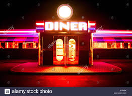 Outside Neon Lights The Neon Strip Lights And Fluorescent Lighting Outside A