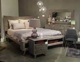 Mahogany and More Bedroom Sets - London Loft Weathered Grey Solid ...