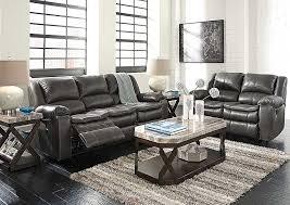World Furniture Long Knight Gray Reclining Power Sofa & Loveseat
