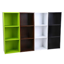 3 layers bookcase wood storage cabinets display shelves storage bookshelf shelf 3 level tier bookcase stand