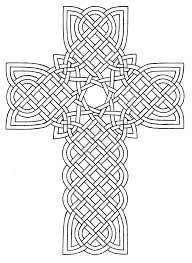 Stained Glass Cross Coloring Page At Getdrawingscom Free For