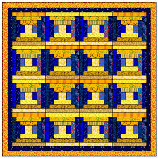 Free Easy Log Cabin Quilt Blocks - page 5 - courthouse steps ... & 4 x 4 blocks (above) - this is the same quilt as #7 but without the red  sashing. Even this small change gives a different look! Adamdwight.com