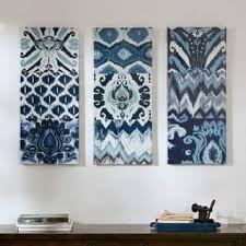 the curated nomad flourish ikat gel canvas 3 piece art set on autumn tree set of 3 framed wall art white brown with abstract art gallery shop our best home goods deals online at