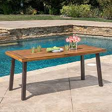 garden dining tables. Wonderful Dining Spanish Bay  Acacia Wood Outdoor Dining Table Perfect For Patio With  Teak Finish To Garden Tables