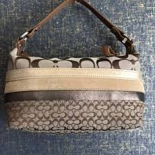 Coach Bags - Small Coach Monogram CC Logo Handbag Purse Brown