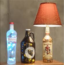 beer and captain morgan bottle lamps