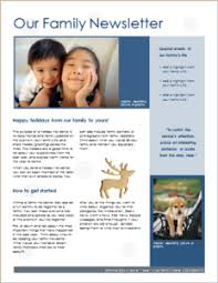 professional newsletter templates for word family christmas newsletter download at http www templateinn com