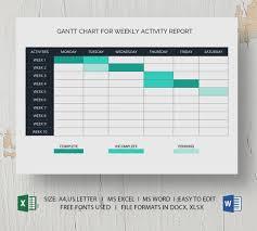 Gantt Chart Xlsx Free Weekly Gantt Chart Template Pdf Word Excel