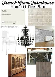 home office design plan. french glam farmhouse home office design plan girl in the garage g