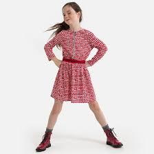<b>Платье струящееся</b> с длинными рукавами и рисунком, 3-12 лет ...