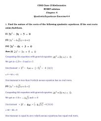 ch 4 quadratic equations ex 4 4 page wise ncert solution in pdf