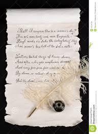 shakespeare s sonnet stock image image of elegance  shakespeare s sonnet 18