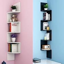 wall shelf rack 5 tier corner shelf rack floating wall shelves storage display books home decor wall mounted coat rack shelf mirror