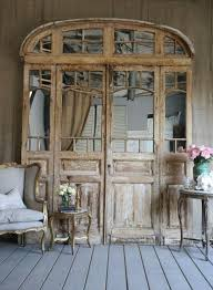 what an amazing idea converting old doors into indoor mirrors