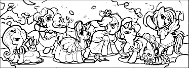Small Picture My Little Pony Party Coloring PagesLittlePrintable Coloring