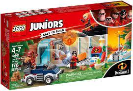 Đồ Chơi LEGO Juniors 10761 - Gia đình Incredibles đại chiến Người Gạch  Brick (LEGO 10761 The Great Home Escape)