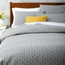 mid century modern duvet covers mid century organic bracket jacquard duvet cover full queen slate mid
