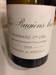 Wine Designation Premier 2009 Domaine De Montille 1er Cru Les Rugiens Bas Pommard