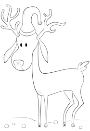 Small Picture Christmas Reindeer coloring page Free Printable Coloring Pages