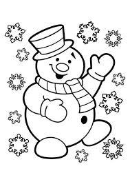 Kleurplaat Sneeuwpop Kleurplaat Printable Christmas Coloring