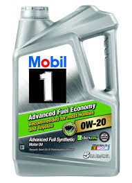 mobil 1 0w 20 advanced fuel economy full synthetic motor oil 5 qt walmart